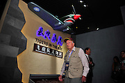 "KUNMING, CHINA - SEPTEMBER 06: (CHINA OUT)<br /> <br /> Flying Tiger Veterans Visit The Cultural Relics Exhibition Of The Flying Tigers In Kunming<br /> <br /> A Flying Tiger veteran visits The Cultural Relics\' Exhibition of the ""Flying Tigers\"" at Kunming Museum on September 6, 2015 in Kunming, Yunnan Province of China. <br /> <br /> The 1st American Volunteer Group (AVG) of the Chinese Air Force in 1941–1942, nicknamed the Flying Tigers, was composed of pilots from the United States Army Air Corps (USAAC), Navy (USN), and Marine Corps (USMC), recruited under presidential authority and commanded by Claire Lee Chennault. The shark-faced nose art of the Flying Tigers remains among the most recognizable image of any individual combat aircraft or combat unit of World War II.<br /> ©Exclusivepix Media"