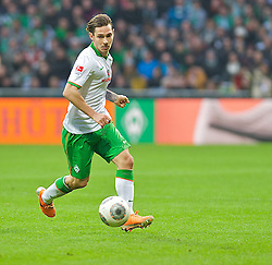 15.02.2014, Weserstadion, Bremen, GER, 1. FBL, SV Werder Bremen vs Borussia Moenchengladbach, 21. Runde, im Bild Ludovic Obraniak (SV Werder Bremen #7) am Ball // Ludovic Obraniak (SV Werder Bremen #7) am Ball during the German Bundesliga 21th round match between SV Werder Bremen and Borussia Moenchengladbach at the Weserstadion in Bremen, Germany on 2014/02/15. EXPA Pictures &copy; 2014, PhotoCredit: EXPA/ Andreas Gumz<br /> <br /> *****ATTENTION - OUT of GER*****