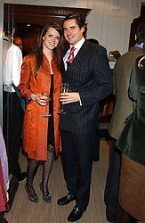EDWARD TAYLOR and GENEVIEVE CHAPMAN at a party hosted by the Gussalli Beretta family to celebrate the opening of the new Beretta store, 36 St.James's Street, London SW1 on 10th January 2006.<br />