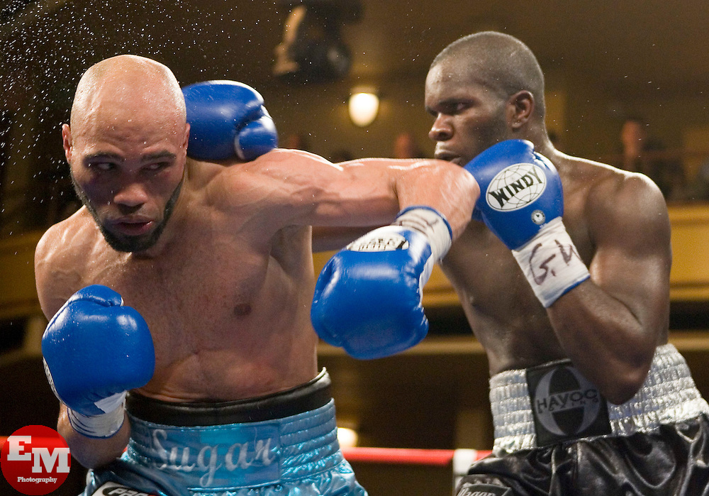 February 17, 2007 - New York, NY - Sechew Powell wins a unanimous decision over Ishe Smith in their 10 round junior middleweight bout at Hammerstein Ballroom in New York City.