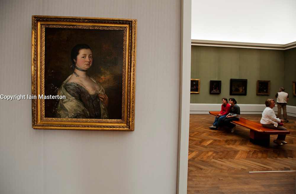 Important artworks on display inside Gemaldegalerie art museum at the Kulturform complex in Berlin Germany