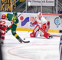 2019-10-23 | Umeå, Sweden:Björklöven (15) Tyler Vesel almost make a goal in HockeyAllsvenskan during the game  between Björklöven and Timrå at A3 Arena ( Photo by: Michael Lundström | Swe Press Photo )<br /> <br /> Keywords: Umeå, Hockey, HockeyAllsvenskan, A3 Arena, Björklöven, Timrå, mlbt191023