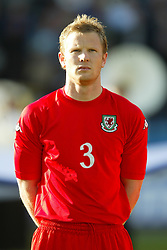 OSLO, NORWAY - Thursday, May 27, 2004:  Wales' Ben Thatcher pictured before the International Friendly match at the Ullevaal Stadium, Oslo, Norway. (Photo by David Rawcliffe/Propaganda)