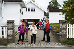 Fans wait for the race to arrive in the final kilometre at Ladies Tour of Norway 2018 Stage 1, a 127.7 km road race from Rakkestad to Mysen, Norway on August 17, 2018. Photo by Sean Robinson/velofocus.com
