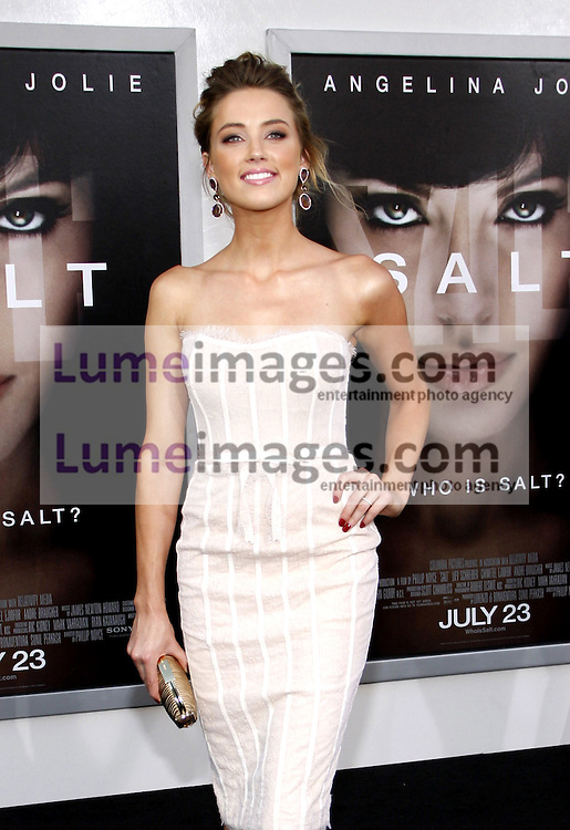 """Amber Heard at the Los Angeles premiere of 'Salt"""" held at the Grauman's Chinese Theatre in Hollywood on July 19, 2010. Credit: Lumeimages.com"""