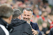 Wales manager Ryan Giggs during the Friendly match between Wales and Belarus at the Cardiff City Stadium, Cardiff, Wales on 9 September 2019.