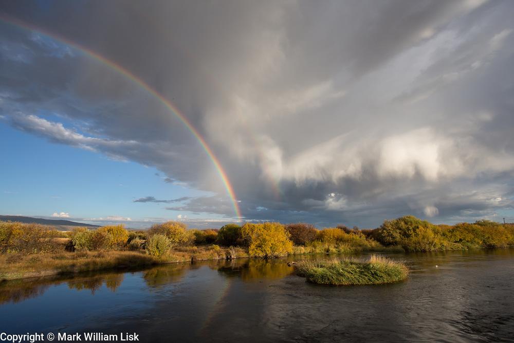 The upper Teton River meanders through farm land in the Teton Basin.