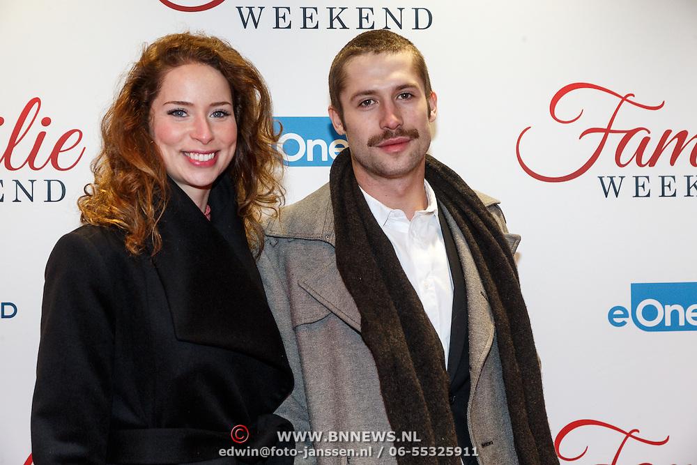 NLD/Amsterdam/20160216 - Filmpremiere Familieweekend, Niels Gomperts en partner .......