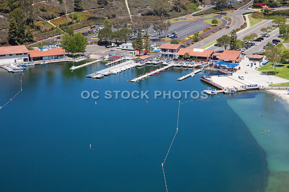Aerial Stock Photo of Playa del Norte Facility at Lake Mission Viejo California