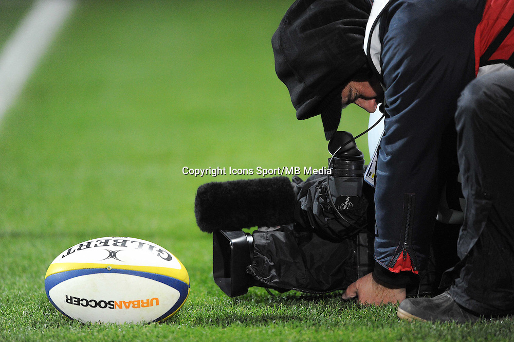 ILLUSTRATION / Cameraman - 28.12.2014 - Lyon Olympique / Clermont - 14eme journee de Top 14 <br />Photo : Jean Paul Thomas / Icon Sport