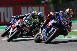 May 10, 2019 - Imola, BO, Italy - Michael Van Der Mark of Pata Yamaha WorldSBK Team during the free practice 2 of the Motul FIM Superbike Championship, Italian Round, at International Circuit ''Enzo and Dino Ferrari'', on May 10, 2019 in Imola, Italy  (Credit Image: © Danilo Di Giovanni/NurPhoto via ZUMA Press)