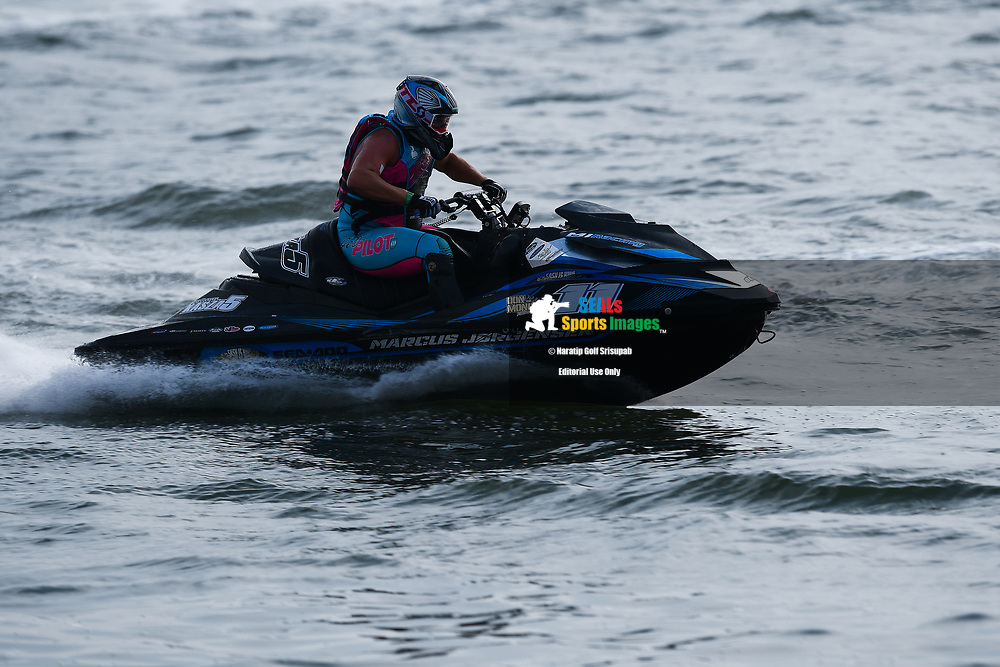 PATTAYA, THAILAND - DECEMBER 09: Marcus Jorgensen (11) of Denmark and MJ Racing in action during the Pro Runabout GP Moto4 at the Thai Airways International Jet Ski World Cup 2018, Jomtien Beach, Pattaya, Thailand on December 09, 2018. <br /> .<br /> .<br /> .<br /> (Photo by: Naratip Golf Srisupab/SEALs Sports Images)<br /> .<br /> Any image use must include a mandatory credit line adjacent to the content which should read: Naratip Golf Srisupab/SEALs Sports Images