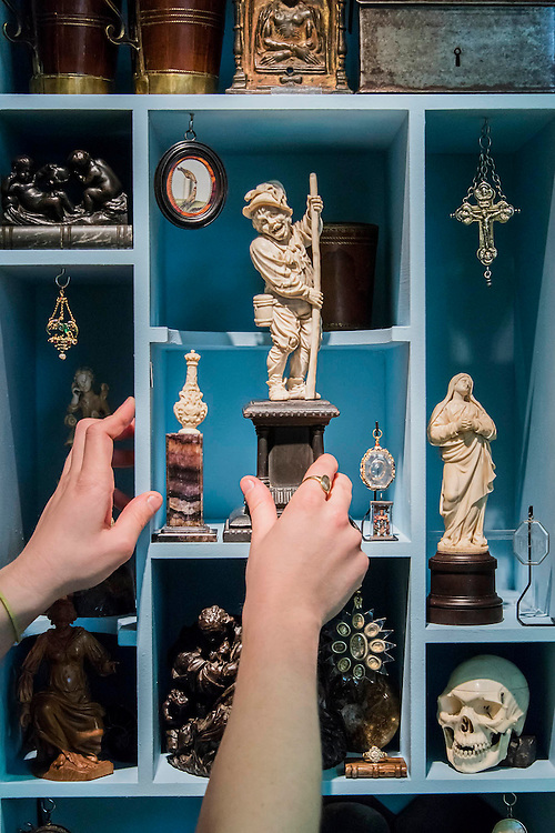 Gothic and Renaissance sculptures on the Matthew Holder stand - Winter Olympia Art & Antiques Fair- in its 25th year the fair plays host to 22,000 visitors who come to see over 30,000 pieces for sale from the 120 hand-picked dealers valued frpom £100-£1m.  The fair runs from 2-8 November 2015, opening with the Collector's Preview Reception on 2 November at 5pm..