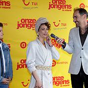 NLD/Am en johan Nijenhuissterdam/20190501 - Perspresentatie cast Onze Jongens in Miami, Matthieu Hinzen, Eva Wijdeven en Johan Nijenhuis