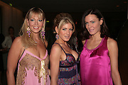 Liz Fuller, Hofit Golan and Linzi Stoppard, Laurent Perrier Pop Art Pink party. Suka at Sanderson. Berners St. London. 25 April 2007.  -DO NOT ARCHIVE-© Copyright Photograph by Dafydd Jones. 248 Clapham Rd. London SW9 0PZ. Tel 0207 820 0771. www.dafjones.com.
