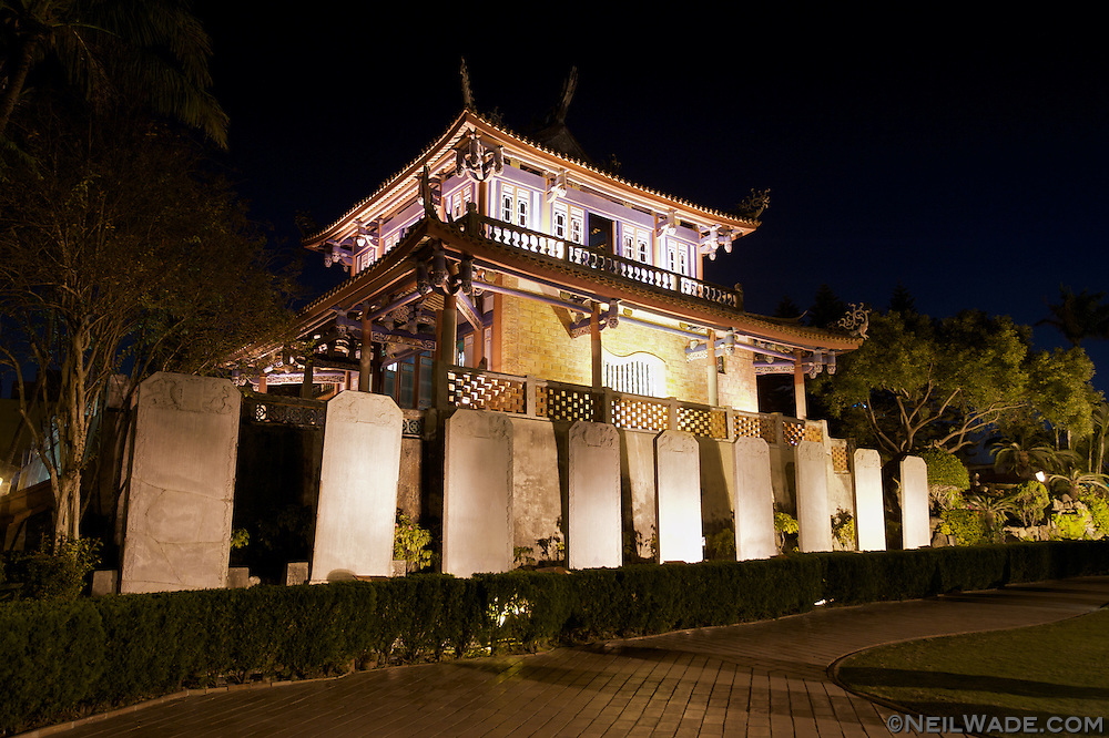 Taiwan was once governed by the Dutch.  They built several forts in Tainan to help control the occasional uprisings.  Chihkan Tower ??? (Fort Provintia) was built in 1653 and traded rulers hands several times over the centuries before being recently restored.