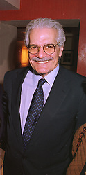 Actor OMAR SHARIF at a luncheon in London on 17th November 1998.<br /> MMA 27 moro