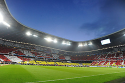 29.04.2014, Allianz Arena, Muenchen, GER, UEFA CL, FC Bayern Muenchen vs Real Madrid, Halbfinale, Ruckspiel, im Bild Imposante Fan-Choreograhie in der Allianz Arena vor Spielbeginn. // during the UEFA Champions League Round of 4, 2nd Leg Match between FC Bayern Munich vs Real Madrid at the Allianz Arena in Muenchen, Germany on 2014/04/30. EXPA Pictures &copy; 2014, PhotoCredit: EXPA/ Eibner-Pressefoto/ Stuetzle<br /> <br /> *****ATTENTION - OUT of GER*****