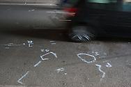 Roma, 04/04/2014: incidente mortale in via G.Groppelli a Ponte di Nona - fatal car accident.