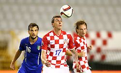 12.06.2015, Stadion Poljud, Split, CRO, UEFA Euro 2016 Qualifikation, Kroatien vs Italien, Gruppe H, im Bild Mario Mandzukic // during the UEFA EURO 2016 qualifier group H match between Croatia and and Italy at the Stadion Poljud in Split, Croatia on 2015/06/12. EXPA Pictures © 2015, PhotoCredit: EXPA/ Pixsell/ Slavko Midzor<br /> <br /> *****ATTENTION - for AUT, SLO, SUI, SWE, ITA, FRA only*****
