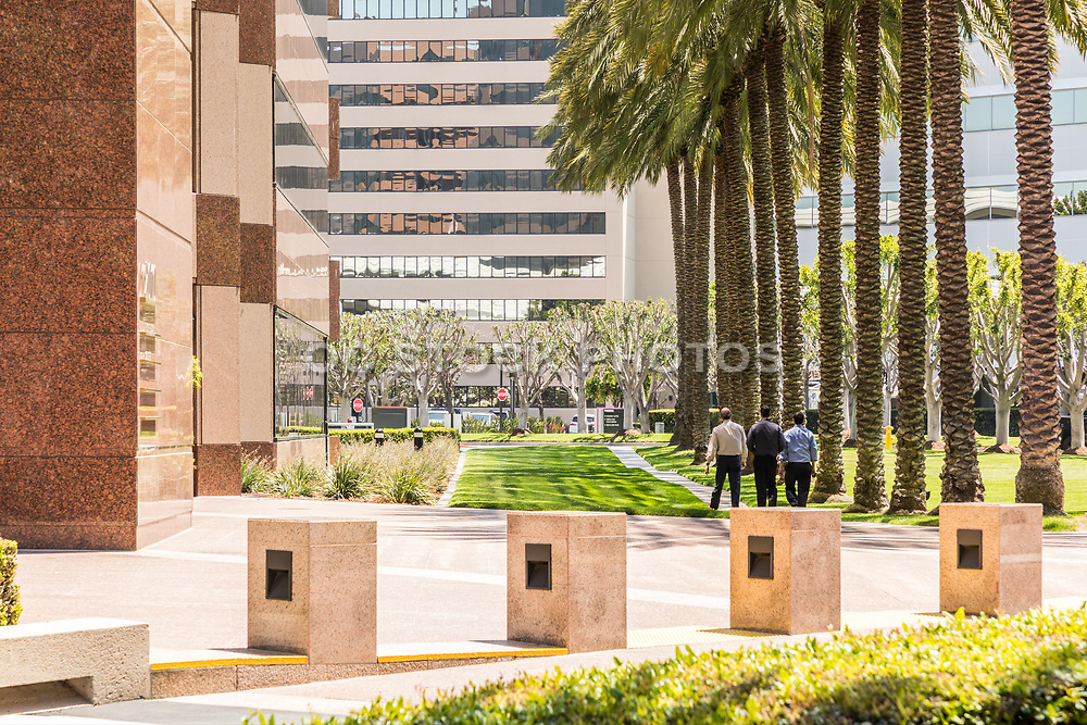 Business Men Walking At The Irvine Business Complex