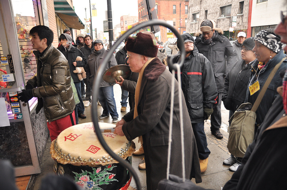 Drummer, Chinese New Year, Chinatown, Chicago, February 6th, 2011