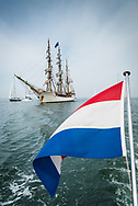 SCHEVENINGEN, NETHERLANDS, 16 JUNE 2020.  Dutch Historical tall ship Bark Europa arrives in the home port of Scheveningen after an 82 days non-stop sailing expedition. Being denied accesss in Ushuaia, Argentina and most other ports due to Covid-19 quarantine and with no place to go, the ship had to sail back the 10.000 miles to The Netherlands. With no ports to resupply and just powered by the wind, this epic journey has never been done before.  © Photo by Frits Meyst  /  WideOyster.com for Bark Europa.