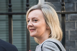 © Licensed to London News Pictures. 12/09/2017. London, UK. Secretary of State for Justice LIZ TRUSS arrives at 10 Downing Street in London ahead of a cabinet meeting.  In the early hours of this morning government won a vote in Commons passing the EU repeal bill, by a margin of 326 to 290 votes. Photo credit: Ben Cawthra/LNP