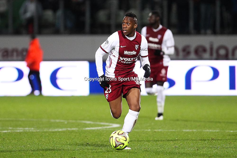 Yeni atito NGBAKOTO - 20.12.2014 - Metz / Monaco - 17e journee Ligue 2<br />Photo : Fred Marvaux / Icon Sport