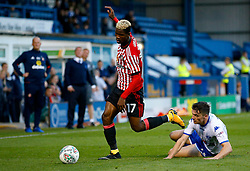 Didier Ndong of Sunderland hurdles a tackle - Mandatory by-line: Matt McNulty/JMP - 10/08/2017 - FOOTBALL - Gigg Lane - Bury, England - Bury v Sunderland - Carabao Cup - First Round