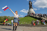 V-E Day at Soviet Memorial, Berlin