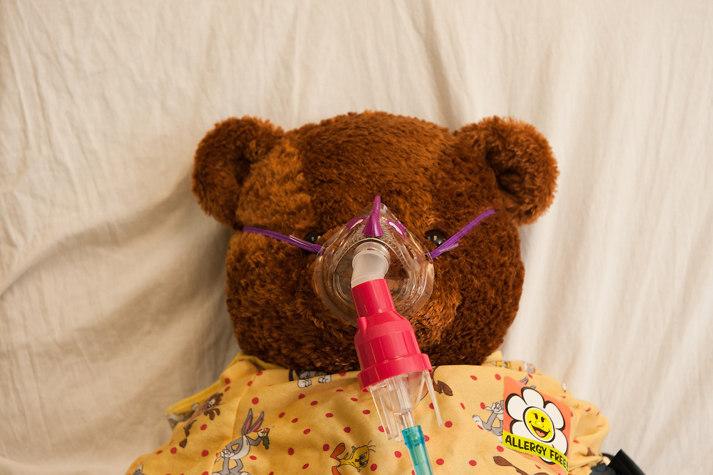 Teddy Bear Clinic in hospital bed