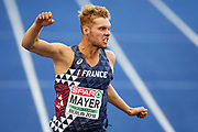 Kevin Mayer competes in men decathlon (100m) during the European Championships 2018, at Olympic Stadium in Berlin, Germany, Day 1, on August 7, 2018 - Photo Philippe Millereau / KMSP / ProSportsImages / DPPI