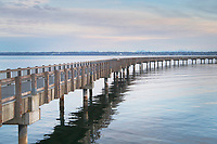 Boulevard Park Boardwalk , Taylor Dock, on Bellingham Bay, Bellingham Washington
