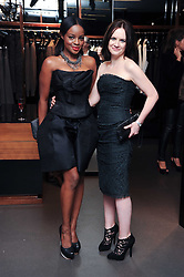 Left to right, KEISHA BUCHANAN and EILIDH MacASKILL  at a party hosted by InStyle to celebrate the iconic glamour of Dolce & Gabbana held at D&G, 6 Old Bond Street, London on 3rd November 2010.