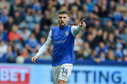 Sheffield Wednesday forward Gary Hooper (14) goal scorer during the EFL Sky Bet Championship match between Sheffield Wednesday and Sheffield Utd at Hillsborough, Sheffield, England on 24 September 2017. Photo by Adam Rivers.