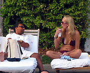 **EXCLUSIVE**.Spike Lee with a mystery blond by the pool at the Delano Hotel.Miami Beach, FL, USA.Saturday, February 03, 2007.Photo By Celebrityvibe.com.To license this image please call (212) 410 5354 ; or.Email: celebrityvibe@gmail.com ;.Website: www.celebrityvibe.com