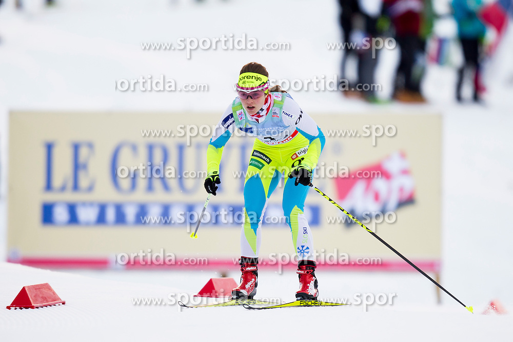 Alenka Cebasek of Slovenia during Ladies 1.2 km Free Sprint Qualification race at FIS Cross Country World Cup Planica 2016, on January 16, 2016 at Planica, Slovenia. Photo By Urban Urbanc / Sportida