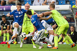 August 2, 2018 - Poznan, Poland - Volodymyr Kostevych (Lech), during UEFA Europa League Second Qualifying Round: 2st leg match between Lech Poznan and Shakhtior Soligorsk at Stadion Miejski in Poznan, Poland, on 2 August 2018. (Credit Image: © Foto Olimpik/NurPhoto via ZUMA Press)