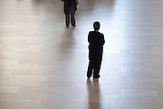 one man wanting to walk towards a waiting single woman