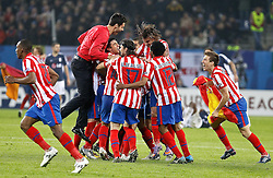 12.05.2010, Hamburg Arena, Hamburg, GER, UEFA Europa League Finale, Atletico Madrid vs Fulham FC im Bild.Atletico de Madrid's players celebrate during UEFA Europa League final match. EXPA Pictures © 2010, PhotoCredit: EXPA/ nph/  Alvaro Hernandez / SPORTIDA PHOTO AGENCY