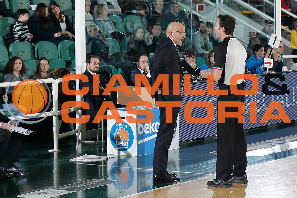 DESCRIZIONE : Avellino Lega A 2014-15 Sidigas Avellino Acea Virtus Roma<br /> GIOCATORE : Francesco Vitucci Arbitro Bettini<br /> CATEGORIA : ritratto<br /> SQUADRA : Sidigas Avellino<br /> EVENTO : Campionato Lega A 2014-2015<br /> GARA : Sidigas Avellino Acea Virtus Roma<br /> DATA : 13/12/2014<br /> SPORT : Pallacanestro <br /> AUTORE : Agenzia Ciamillo-Castoria/A. De Lise<br /> Galleria : Lega Basket A 2014-2015 <br /> Fotonotizia : Avellino Lega A 2014-15 Sidigas Avellino Acea Virtus Roma