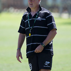 DURBAN, SOUTH AFRICA - MARCH 10:  Gary Gold (Sharks Director of Rugby) during the Cell C Sharks training session at Growthpoint Kings Park on March 10, 2015 in Durban, South Africa. (Photo by Steve Haag/Gallo Images)