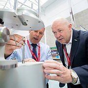 13.06.2018.            <br /> Up to 1,000 delegates visited Ireland's largest manufacturing supply chain conference and trade exhibition - Manufacturing Solutions Ireland 2018 - at Limerick Institute of Technology (LIT) in the course of today (Wednesday, June 13). <br /> <br /> Pictured at he event were Steve Taylor, Tinius Olsen and Richard Keegan, Enterprise Ireland.<br /> <br /> In its second year, the conference and engineering trade show, hosted by the UK tool technologies trade association - the GTMA in conjunction with LIT, exceeded last year's attendance thereby helping to generate in excess of a quarter of a million euro for the local economy. The Manufacturing Solutions event was supported by the Syndicat du Décolletage Congress also held in Limerick. Picture: Alan Place