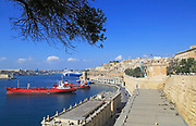 Merchant shipping and cruise ships in Grand Harbour, Valletta, Malta