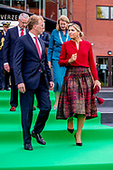 Queen Maxima at the Reopening of the modernized office of the Dutch Association of Insurers during the celebration of the 40th anniversary of the covenant, The Hague, The Netherlands - 17 Oct 2018