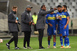 Cape Town-181002- Cape Town City coach Benni McCarthy giving his players harsh words when they considered a second goal aganst Bidvest Wits at the Cape Town Stadium.The new champions of the MTN 8 cup, suffered a 2-0 loss after their victory on saturday,as Simon Murray scored a brace that sent Wits to the top of the log .Photographs:Phando Jikelo/African News Agency/ANA