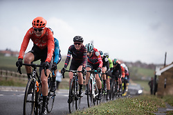 Hannah Barnes (GBR) of CANYON//SRAM Racing rides in the chasing group during the ASDA Tour de Yorkshire Women's Race 2019 - Stage 2, a 132 km road race from Bridlington to Scarborough, United Kingdom on May 4, 2019. Photo by Balint Hamvas/velofocus.com