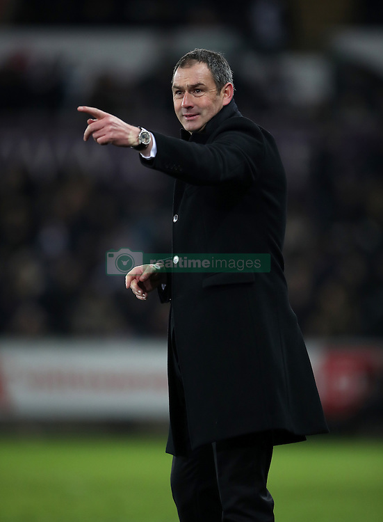 Swansea City manager Paul Clement during the Premier League match at the Liberty Stadium, Swansea.