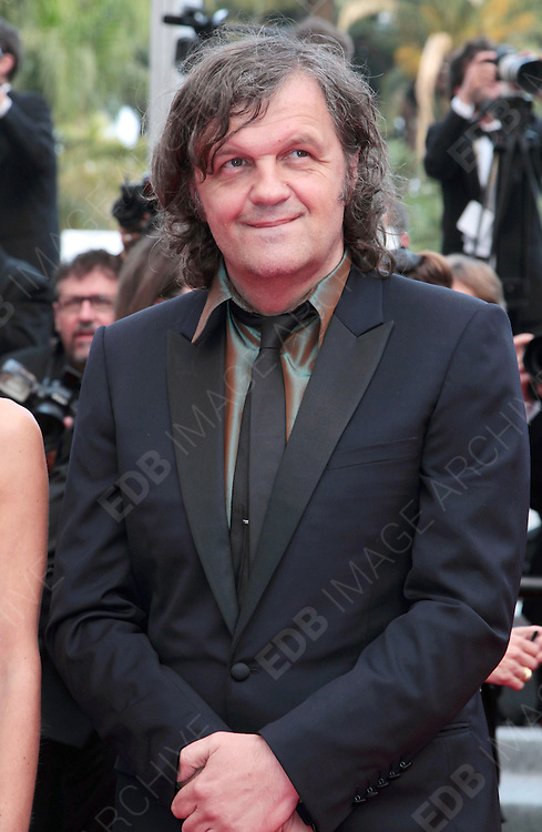 12.MAY.2011. CANNES<br /> <br /> EMIR KUSTURICA ARRIVING ON THE RED CARPET FOR THE SLEEPING BEAUTY PREMIERE AT THE 64TH CANNES INTERNATIONAL FILM FESTIVAL 2011 IN CANNES, FRANCE.<br /> <br /> BYLINE: EDBIMAGEARCHIVE.COM<br /> <br /> *THIS IMAGE IS STRICTLY FOR UK NEWSPAPERS AND MAGAZINES ONLY*<br /> *FOR WORLD WIDE SALES AND WEB USE PLEASE CONTACT EDBIMAGEARCHIVE - 0208 954 5968*